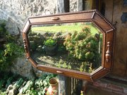 Early 20th century oak octogonal mirror