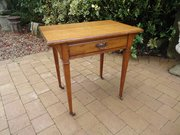 Arts & Crafts oak writing table or side table