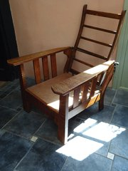 Fabulous Arts & Crafts Oak reclining Chair