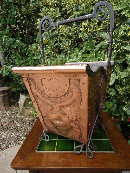 Fabulous Arts & Crafts coal bucket - John Pearson