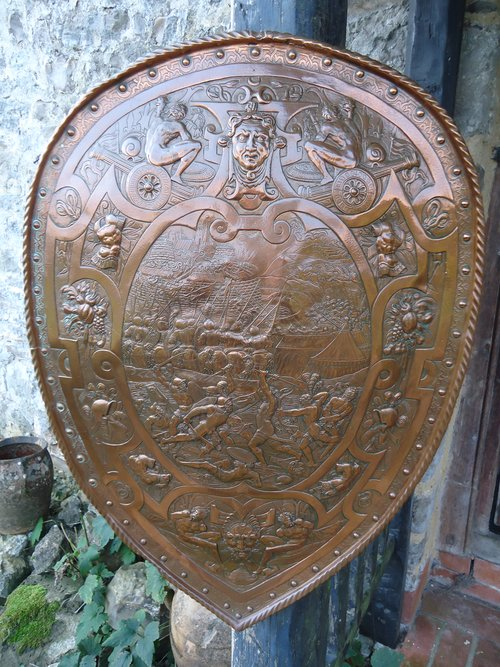 Fascinating Arts & Crafts copper shield