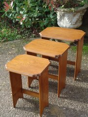 Good nest of  three oak tables