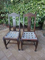 Good pair of Arts & Crafts Walter Cave chairs