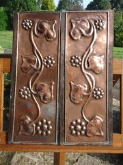 Good pair of Arts & Crafts copper panels
