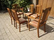 Good set of 6 Arts & Crafts oak dining chairs