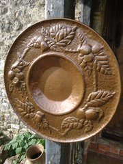 Large Arts & Crafts Newlyn copper charger