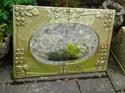 Large Arts & Crafts Scottish school brass mirror