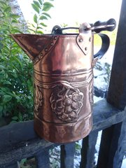 Large Arts & Crafts copper water jug