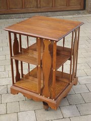 Lovely Arts & Crafts oak revolving bookcase.