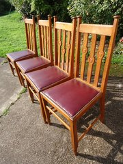 Lovely set of four Arts & Crafts dining chairs