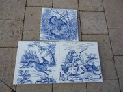 Lovely set of three 8 inch Wedgewood tiles