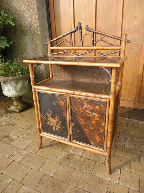 Oriental bamboo cabinet