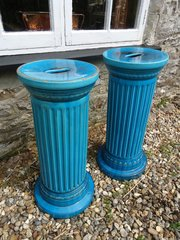Pair Arts & Crafts Burmantofts jardiniere stands