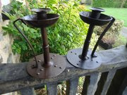 Pair of Arts & Crafts Goberg candle holders