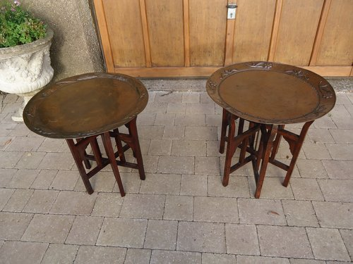 Pair of Arts & Crafts John Pearson tray tables