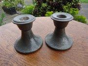 Pair of Arts & Crafts Tudric Candleholders Liberty