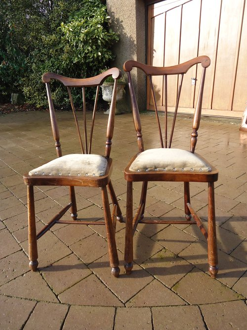 Pair of Arts & Crafts children's chairs