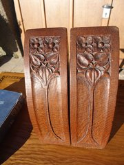 Pair of Arts & Crafts oak bookends