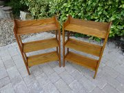 Pair of Arts & Crafts oak bookshelves - Heals