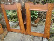 Pair of Arts & Crafts oak mirrors