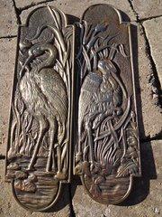 Pair of Unused Brass Arts & Crafts fingerplates