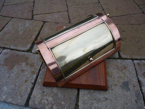 Rare 1941 Copper and Brass Desk Stand