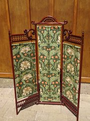 Rare Arts & Crafts 3 fold screen Liberty 1882