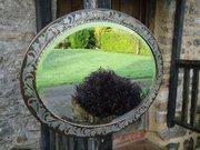 Rare Arts & Crafts Hugh Wallis Oval mirror