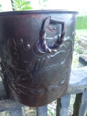 Rare Arts & Crafts Newlyn copper planter