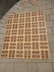Set of 42 Retro 1970's Spanish tiles