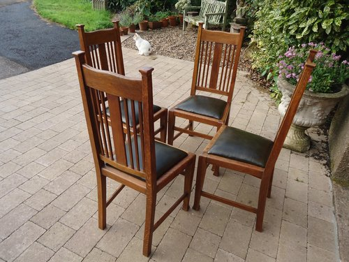 Set of 4 Liberty Arts & Crafts chairs.