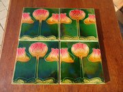 Set of Four Arts & Crafts Tiles