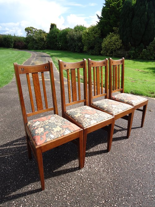 Set of Four Arts & Crafts dining chairs - E.A.Taylor