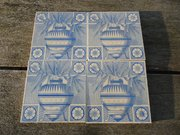 Set of four Arts & Crafts tiles - Dresser?
