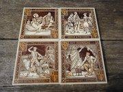 Set of four eight inch Minton's tiles - Moyr Smith