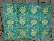 Set of twelve Arts & Crafts tiles