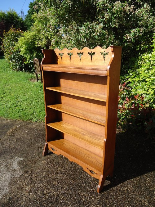 Arts & Crafts Bookcase with butterflies