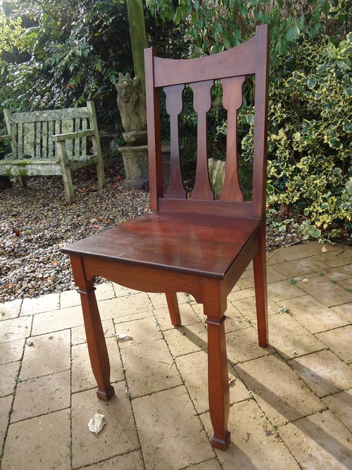 Shapland & Petter hall  chair in Walnut
