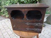 Small Arts & Crafts fumed oak  wall cupboard