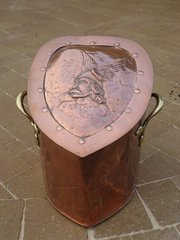 Stunning Arts & Crafts coal box with warrior