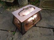 Stunning Arts & Crafts copper coal box