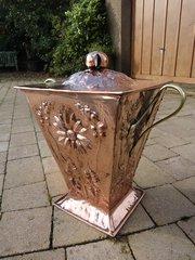 Stunning Arts & Crafts copper lidded coal box