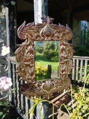 Stunning Arts & Crafts copper mirror.