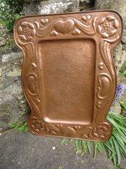 Stunning Arts & Crafts copper tray
