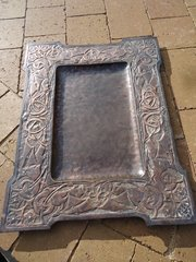 Stunning Large Scottish school copper tray