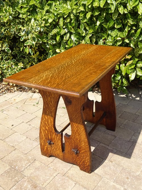 Stunning Liberty table inspired by Voysey.