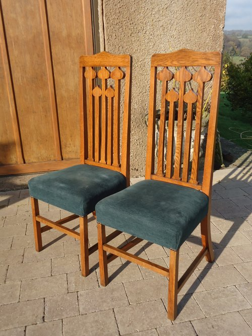 Stunning Pair of Liberty oak chairs
