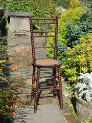 Victorian Bobbin turned Child's Correction Chair