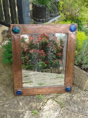 Stunning  Arts & Crafts Copper mirror with Ruskins