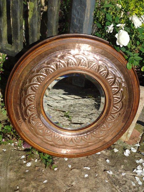 Stunning large Arts & Crafts mirror - Keswick?